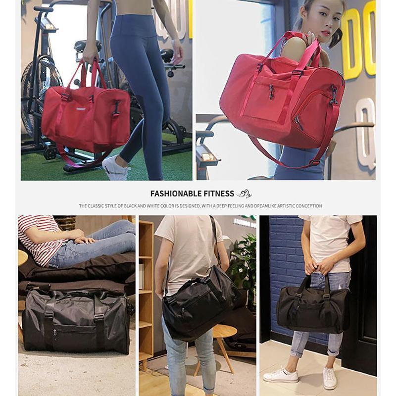 Portable étanche Sports Fitness Fitness Gym Sacs Grande Capacité Voyage Organisateur Luggagefitness Sac De Rangement C19040401