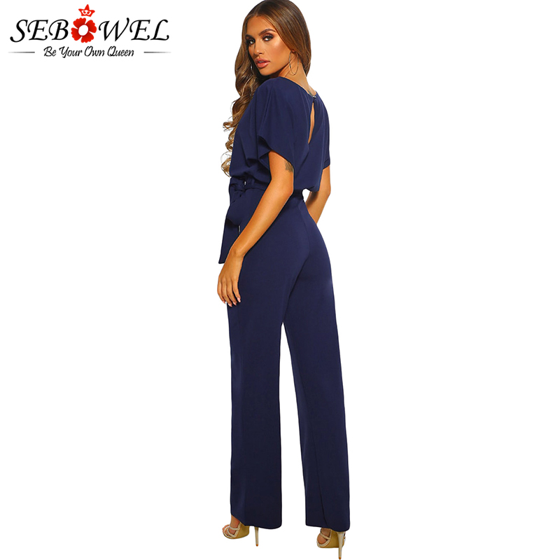 Blue-Oh-So-Glam-Belted-Wide-Leg-Jumpsuit-LC64520-5-2