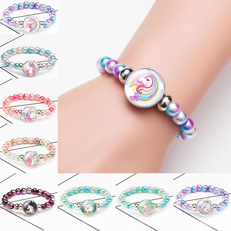 Glass Bead /& Velvet Bracelet  ~ Childrens Assorted Colors