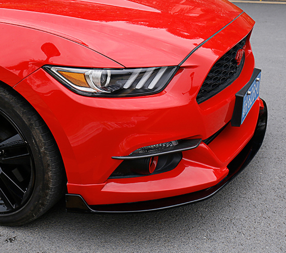 Car Front Fog Light Eyelid Decoration Cover Trim Strips Stickers For Ford Mustang 2015 Car Styling Accessories