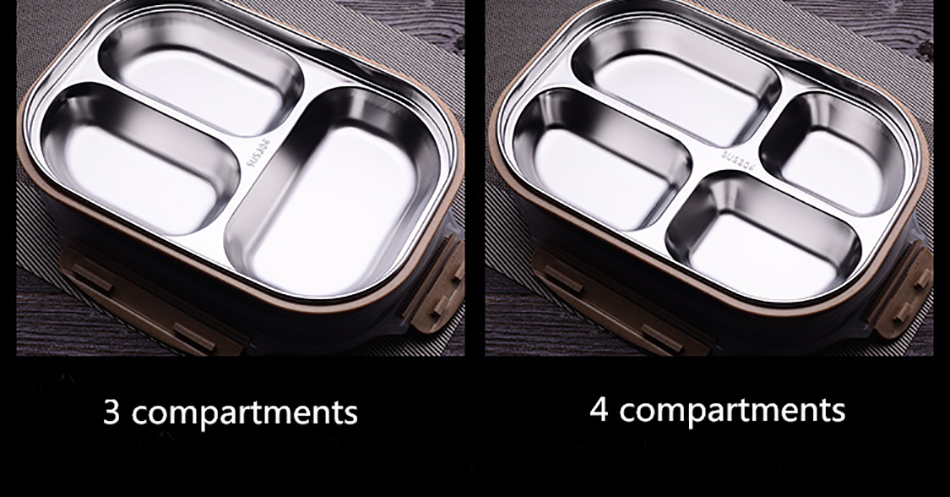ONEUP stainless steel Lunch box Eco-friendly Wheat Straw Food container with cutlery Bento Box With Compartments Microwavable 10