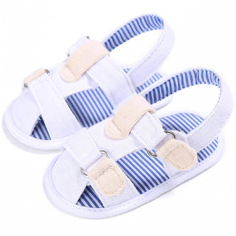 2 Color Summer Fashion Baby Boys Sandals Toddler Infant Kids Baby Boys Canvas Anti-slip Sole Crib Sandals Shoes M8Y02 (9)