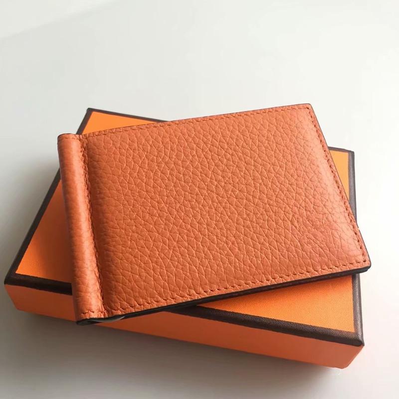 Rfid blockieren Leder schlanke Brieftasche Geldscheinklammer KreditkarteniCRH