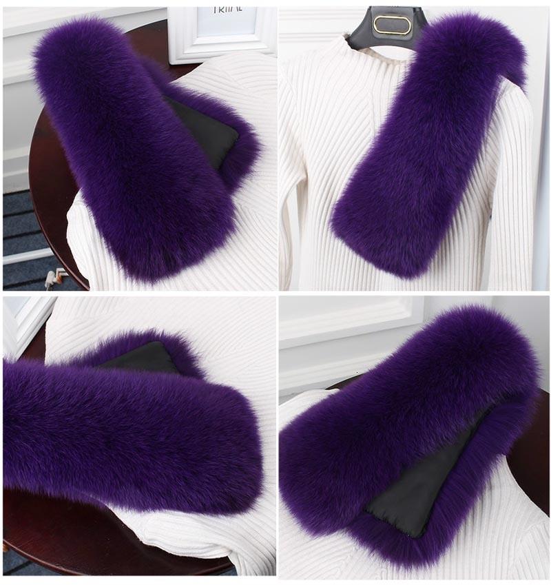 fox fur collar purple 2