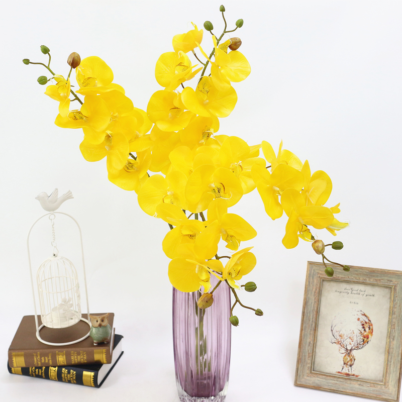Artificial Orchid Flower 4 color Real Touch Artificial Butterfly Orchid flores artificial Wedding decoration home Festival Decor (8)