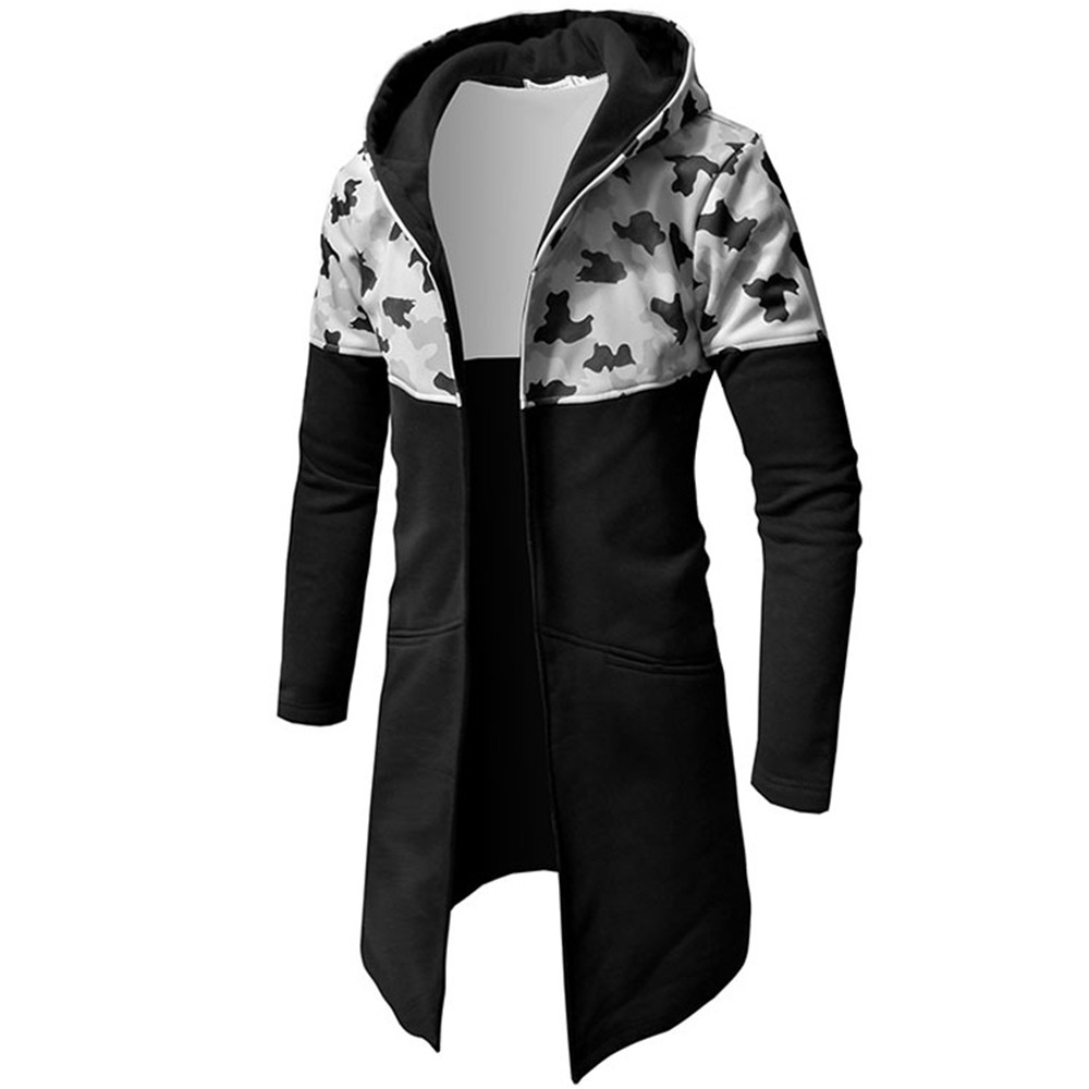 wholesale Camo Male Sweatshirts Men Autumn Winter Casual Camouflage Zipper Long Sleeve Top Blouse Jacket Coat Brand Hoodies