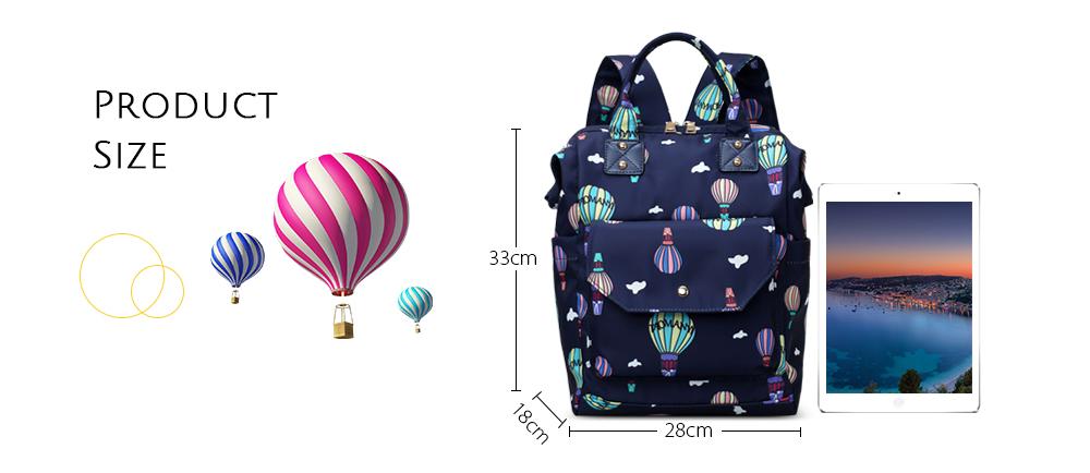 Diaper Bag Cute Pattern Waterproof Large Capacity Mother Women Backpack (5)
