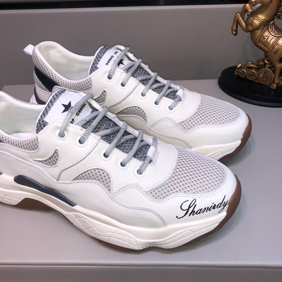 2019h autumn and winter private custom men s leather outdoor sports shoes, high quality fashion low cut casual shoes, size: 38-44
