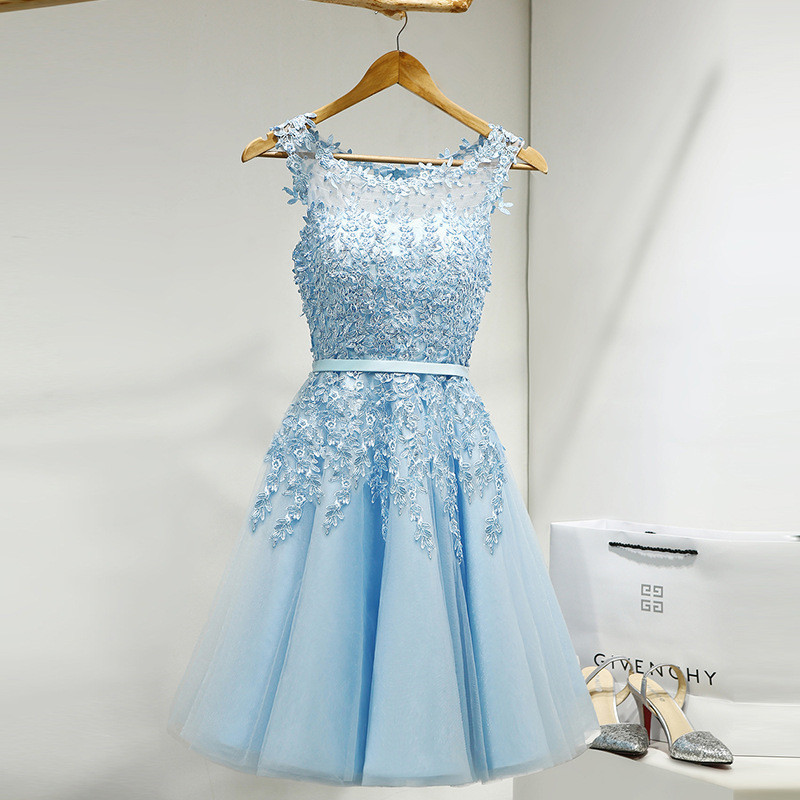 It-s-YiiYa-Lace-Many-Color-Illusion-Flowers-Beading-A-line-Knee-Length-Dinner-Bridesmaids-Dresses (1)