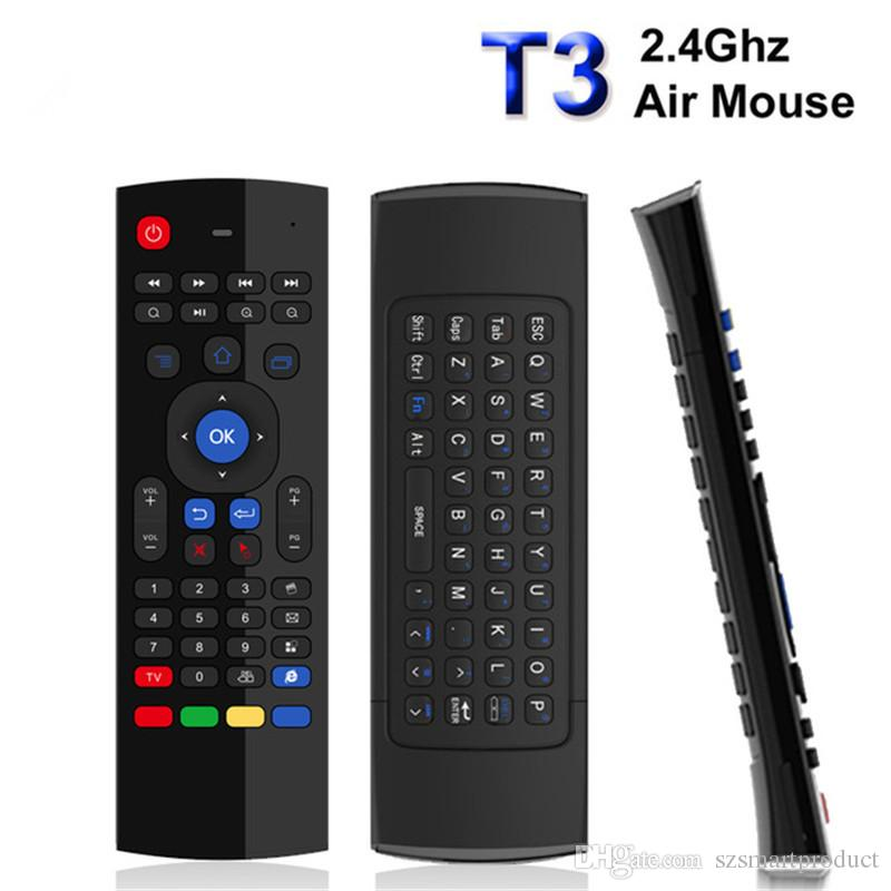 Color: T3 White Backlit Calvas 2.4G Wireless fly Air mouse T3 Air mouse Backlit White remote control for smart tv