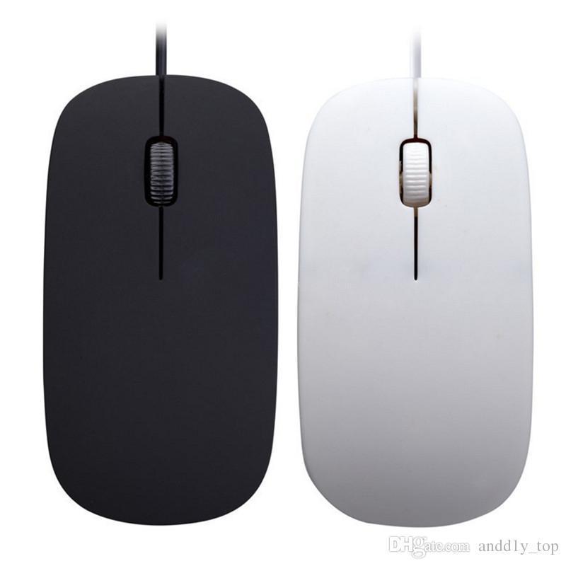 Universal 1200 dpi Verdrahtete Optische Maus Ultra Slim Hohe Qualität Mäuse Usb Für PC Laptop Macbook Apple Desktop Tablet Computer 100 stücke