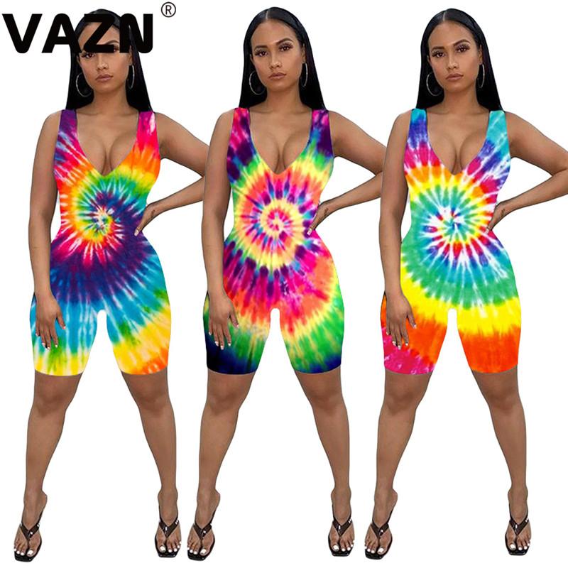 YONGM Womens Stylish Sleeveless Halloween Print Bodycon Rompers Jumpsuits