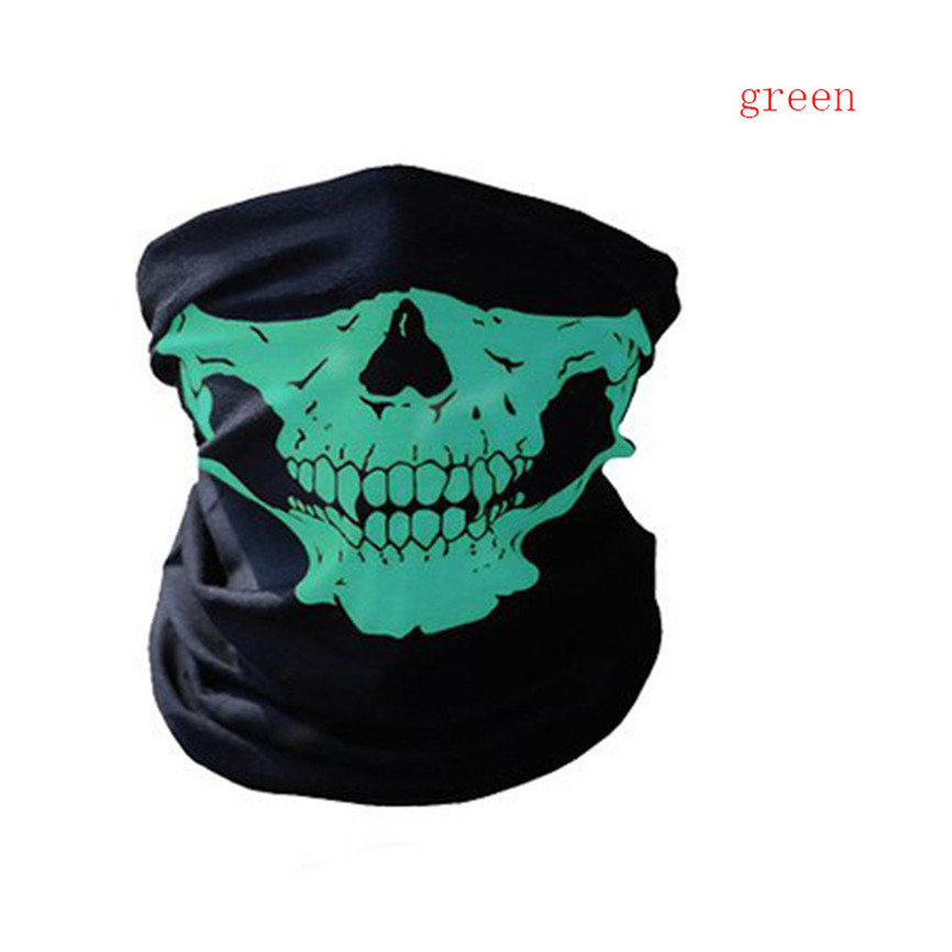Festival Skull Masks Skeleton Magic Bicycle Ski Skull Half Face Mask Ghost Scarf Multi Use Neck Ghost Half Face Mask Nov#1