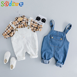 Baby-Boy-Kleidung-2019-Fr-hling-Neue-Mode-Plaid-Shirt-Nette-Bib-2-St-ck-Set.jpg_640x640