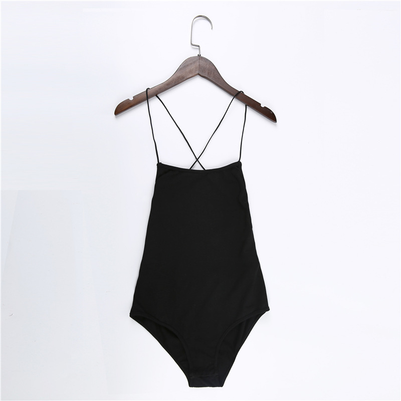 backless sleeveless summer bodysuit sexy hot one piece overalls criss cross strap play suit(8)