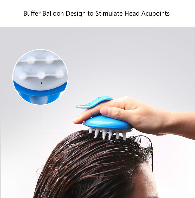 Drop Ship Salon Hair Brush Silicone Spa Shampoo Brush Shower Bath Comb Hairbrush Props Soft Styling Tool Cepillo Pelo