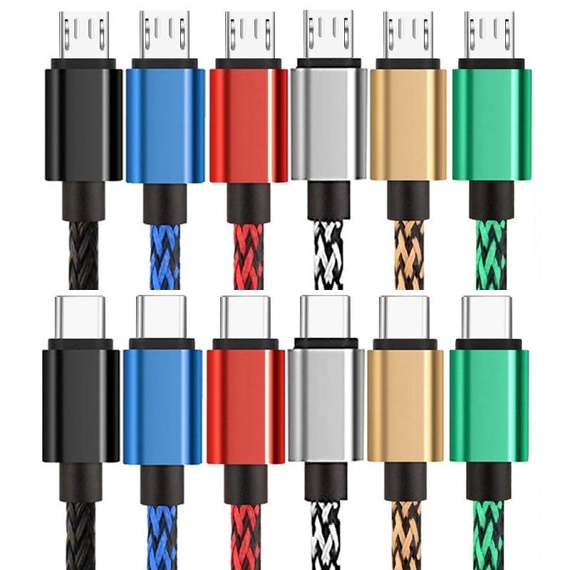 USB USB-C Kabel für Samsung  S8 S9 Ladekabel Gewebe Stoff Kabel USBC