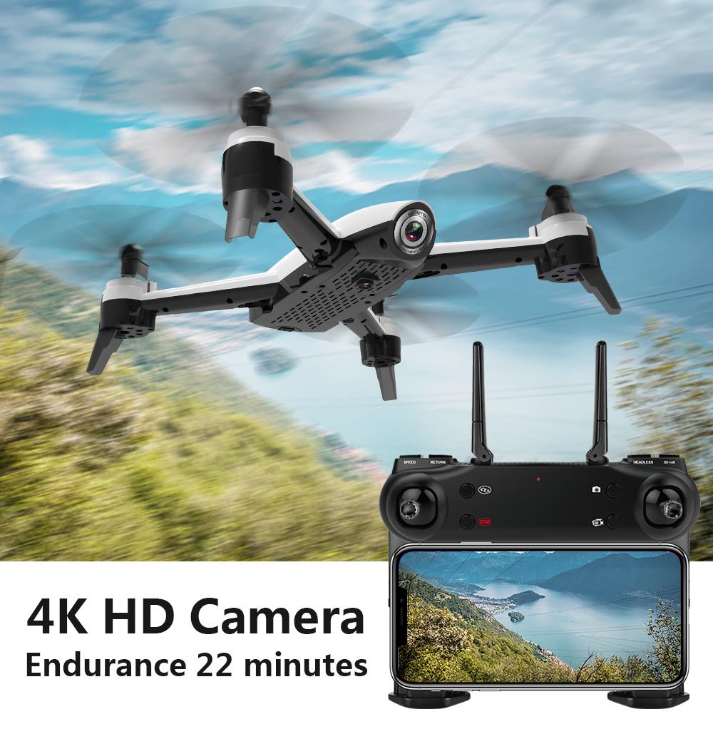 Sg106 Drone Con Doppia Macchina Fotografica 1080p 720p 4k Wifi Fpv Real Time Aerial Video Wide Angle Flusso Ottico Rc Quadcopter Giocattoli Elicottero T190621