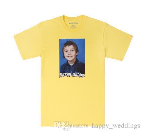 18ss Super Neue Herren Frühling Sommer Persönlichkeit Brief Männer T-shirt Baumwolle Einfache 5 farben S M L Xl Xxl Auf Lager