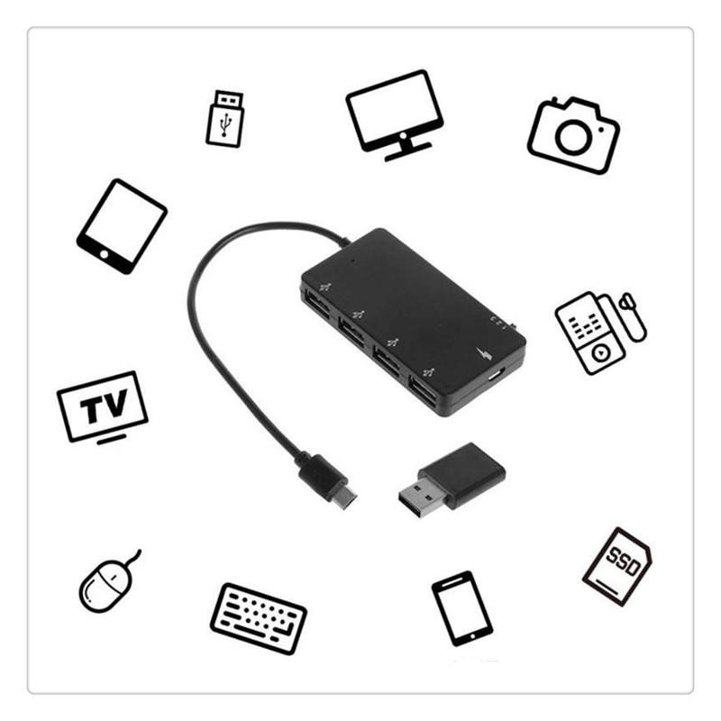gauche MagiDeal 90 Degr/és Angle Micro Usb 2.0 Otg Adaptateur H/ôte Avec Puissance Usb pour Micro USB T/él/éphone Android