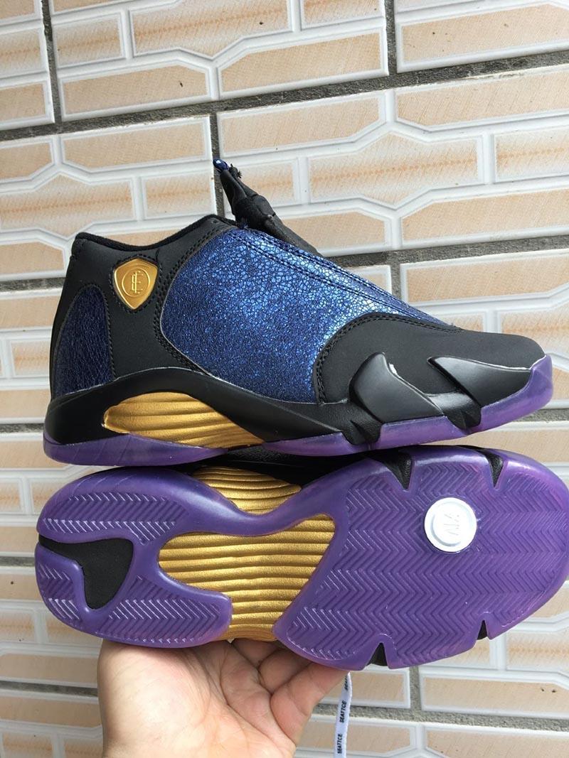 Delicato Colore Viola Pallido nuovi 14 doernbecher court nero viola multi-colore bianco di pallacanestro  degli uomini scarpe sneakers sportive 14s gs lil rey progettista degli