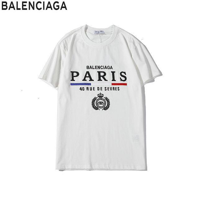 Новые прибытия 2020 Мужской тенниска коротких рукава шея футболка мужских топы 191128-63y98 * 3693