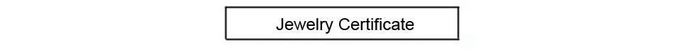 Jewelry certificate