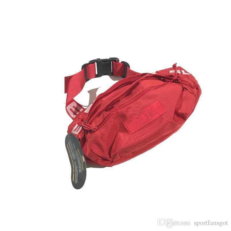 Designer Waist Bag black Red 18SS 3M 44th Fashion Unisex Fanny Pack Fashion Waist Men Canvas Hip-Hop Belt Bag Men Shoulder Bag 3M