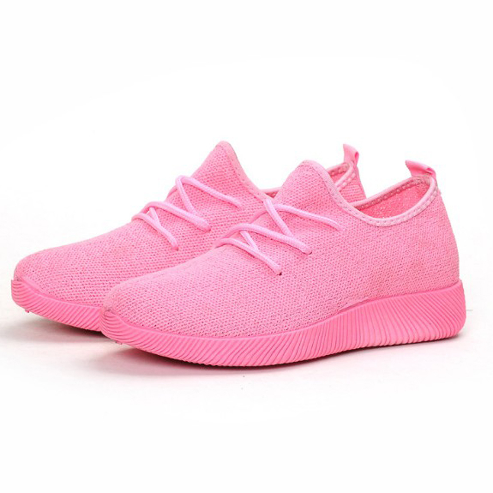 Shoes Fashion Quality Canvas Women Breathable Outdoor Footwear Casual Sneakers Casual Solid Ankle Strap Round Toe Lace Up Pumps