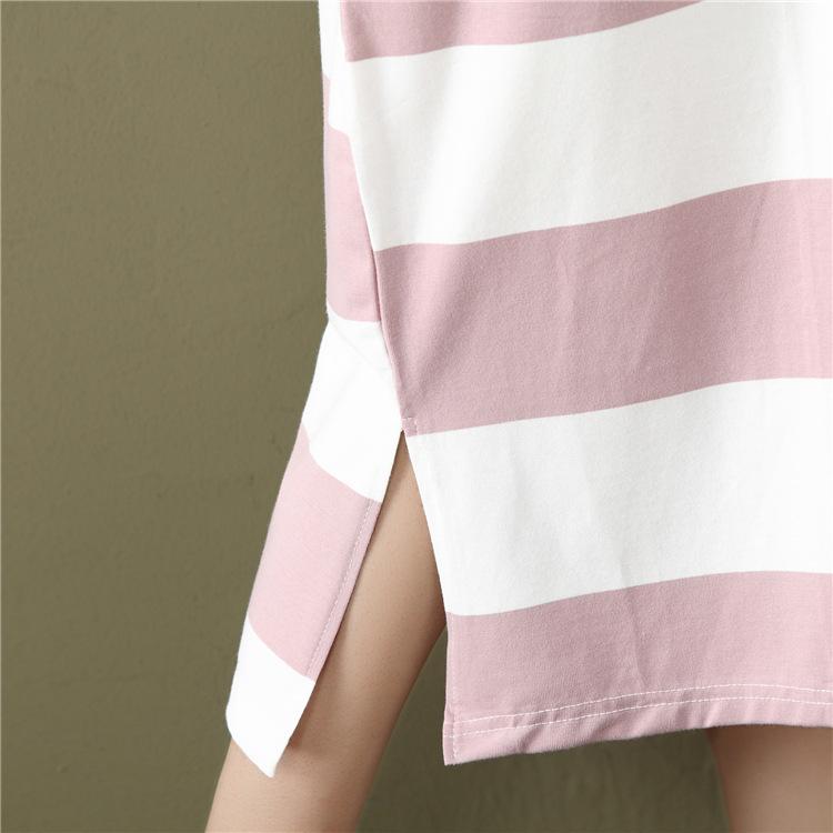 2019 été coréenne casual femmes robe lâche bande dessinée de bande dessinée imprimer coton o cou à manches courtes t-shirt dress plus la taille 4xl Y190507