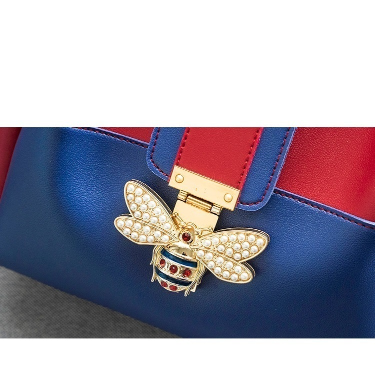 2018 Modedesigner Crossbody Tasche 2 teile / satz Biene Perle Frauen Messenger Bags Handtaschen Damen Berühmte Marken Tote Schulter Clutch