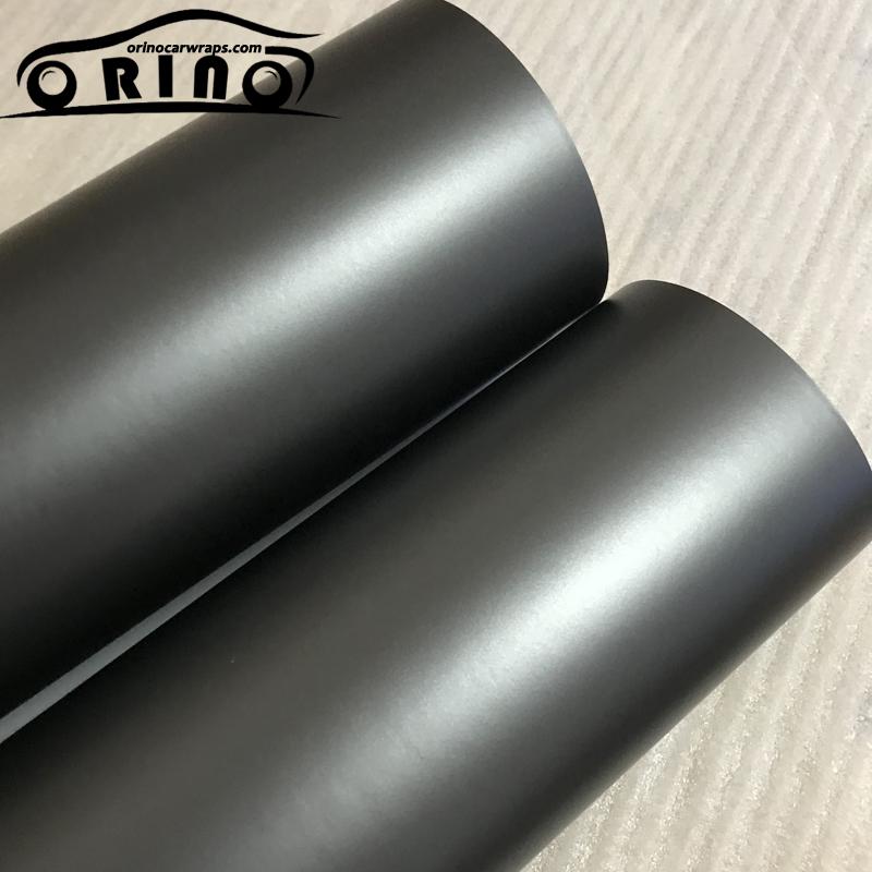 Grey Metallic Chrome Vinyl Film Wrap-4