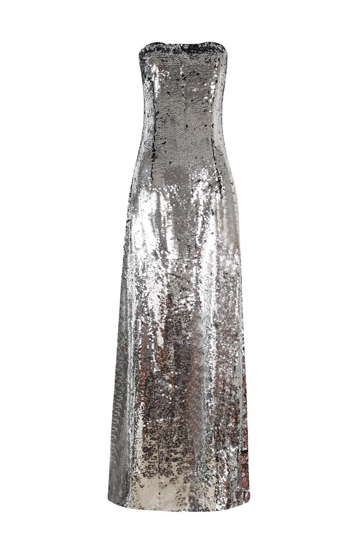 Großhandel Trägerlosen Rückenfreien Schlitz Mode Heißer Verkauf Sexy Frauen  Kleid Pailletten Nachtclub Promi Abendgesellschaft Körper Con Kleider Von
