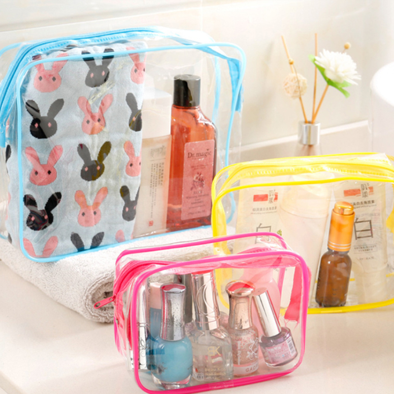 Etya Travel Clear Pvc Cosmetic Women Men Transparent Zipper Makeup Bags Organizer Beauty Make Up Bath Wash Handbag Case Bag C19042101