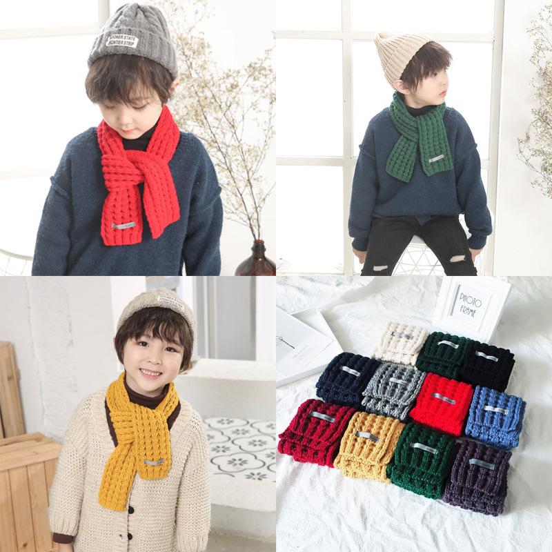 1/pcs B/éb/é Enfants Unisexe Pour enfant Hiver chaud doux en tricot /épaissir /Écharpe/ /Foulard Cache-cou /écharpe souple Ch/âle /écharpes