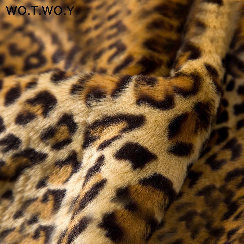 Thicken Leopard Jacket Women Mid-Long Winter Faux Fur Coat Women Slim Casual Luipaard Fur Jackets Female Harajuku 2018