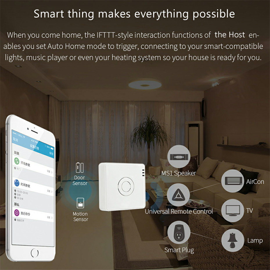 3---Broadlink S2 Host Smart Home Security Alarm Detect Hub WIFI Remote Control Anti-thef Device