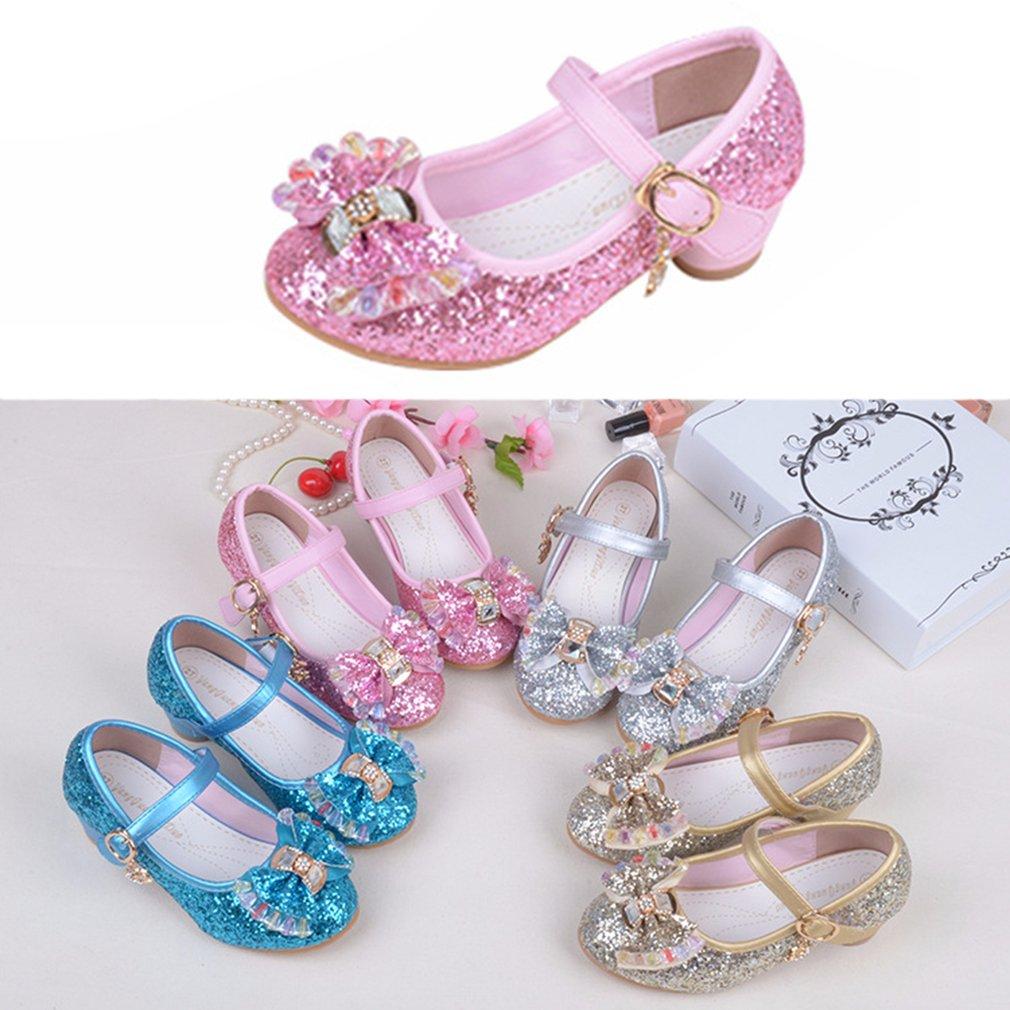 Diseñador de zapatos de vestir Shinning Kids Princess Sandalias Sparkling Girls Casual Summer Sandals Butterfly Nnot Bowtie niños