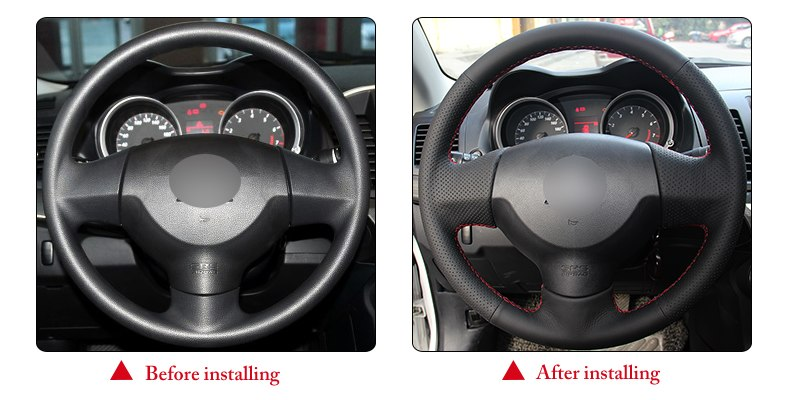 for Mitsubishi Lancer X steering wheel covers