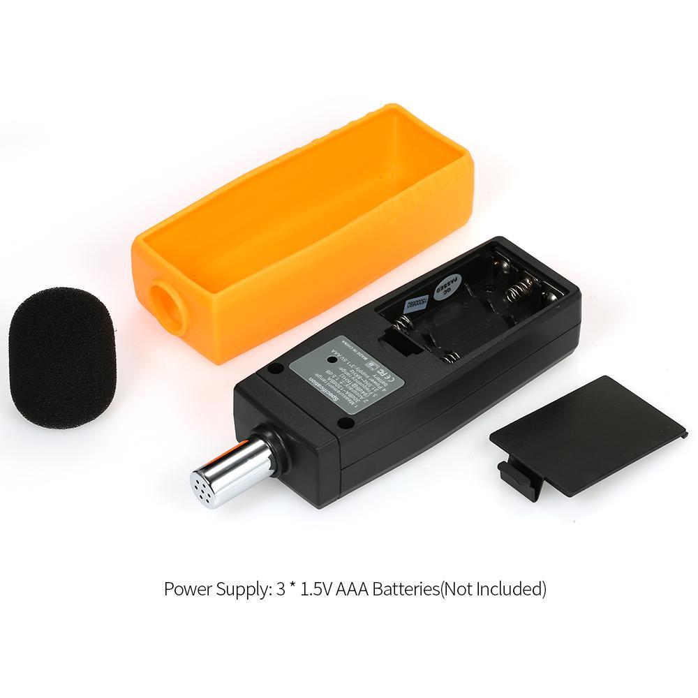 LCD Display Digital Sound Level Meter Decibel Monitoring Tester Logger Tester 30-130dBA Noise Measurement