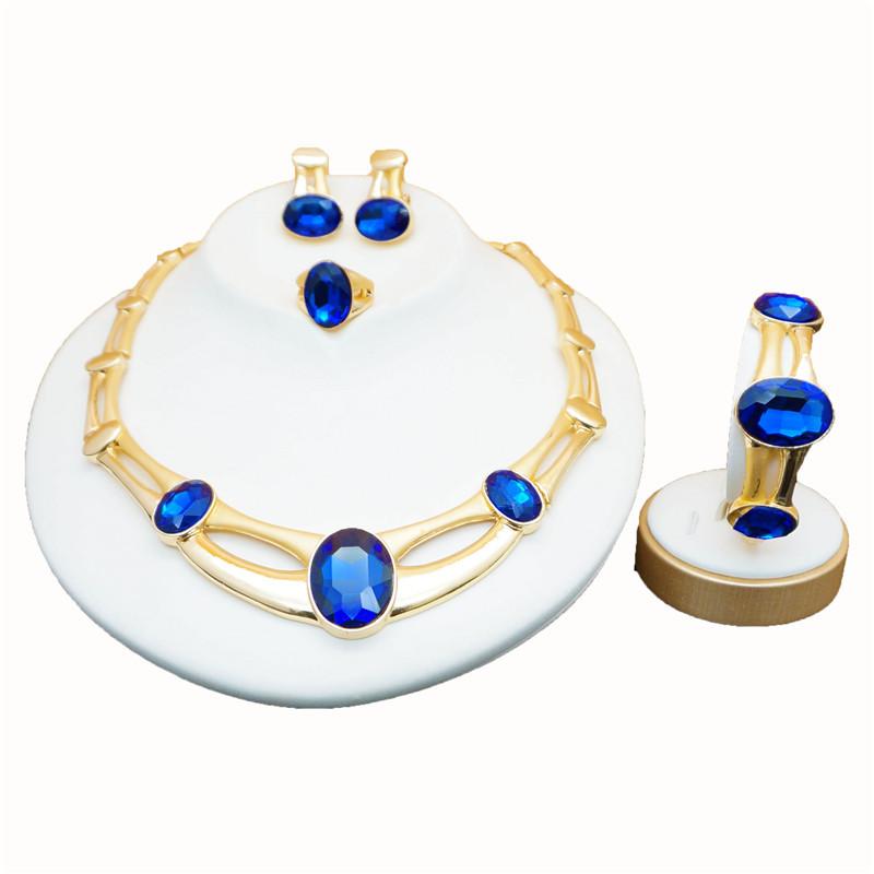 2019 Rose Gold Green Stone Jewelry Sets Women Bridal Jewelry Sets Luxury  Necklace Set In Jewelry Sets Stud Drop Earrings Jewellery From