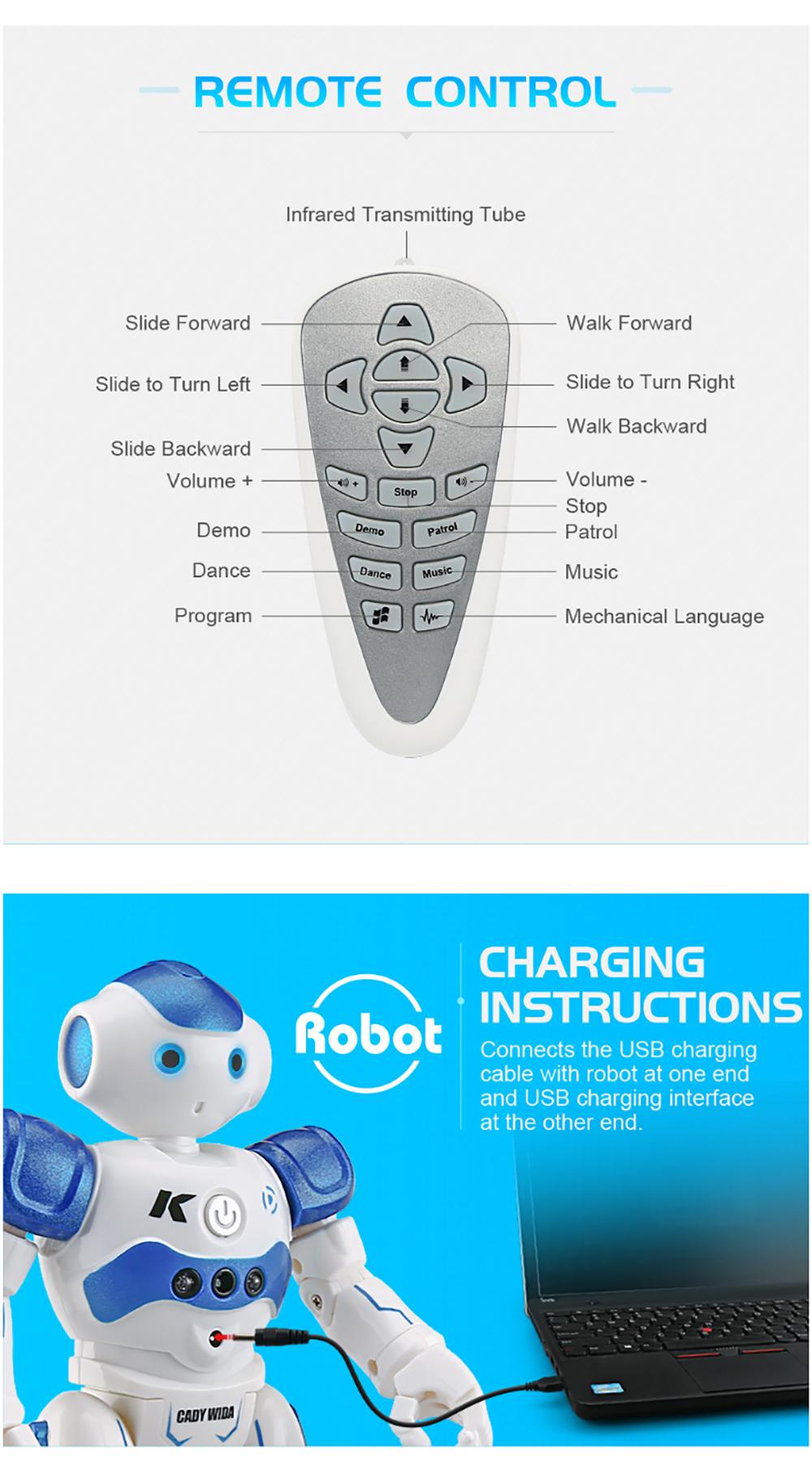 RC Robot Intelligent Programming Remote Control Robot Toy-6