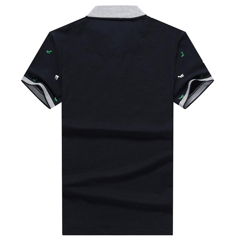 Summer mens polo shirt Cotton polka dot short male polo men top tee quick dry size M-3XL Muls brand fashion Black White Gray1613-09