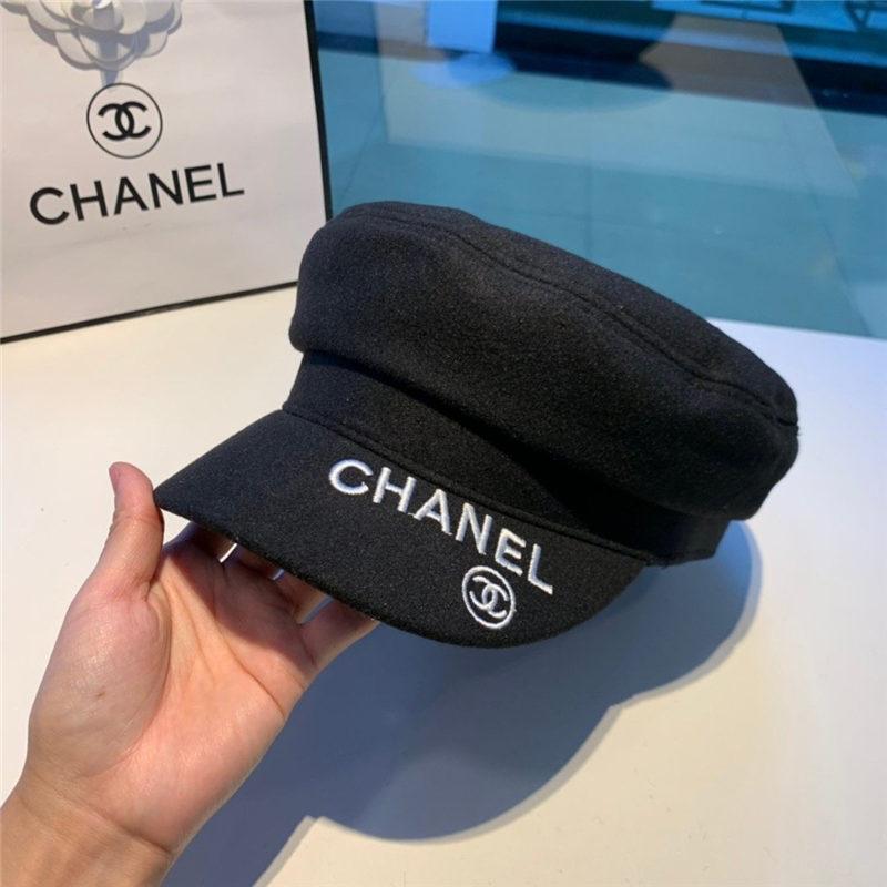 Schirmm/ützen f/ür Damen Barett Maler M/ütze mit Visor Woolen Duckbill Hat Tweed Hat Chain Flache M/ütze