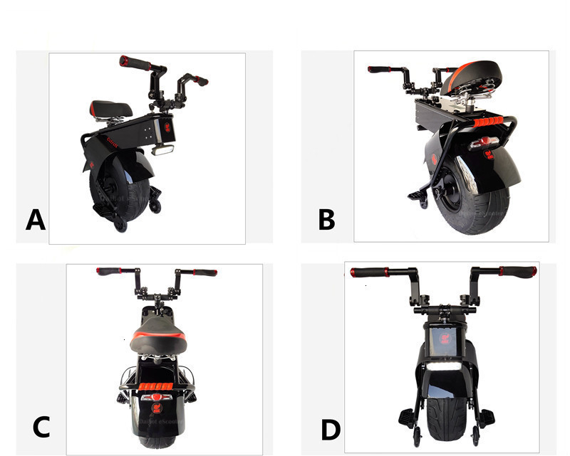 Adult Electric Motorcycle Scooter One Wheel Electric Scooters 18 Inch Fat Tires Portable Electric Unicycle One 1000W 60V 90KM (14)