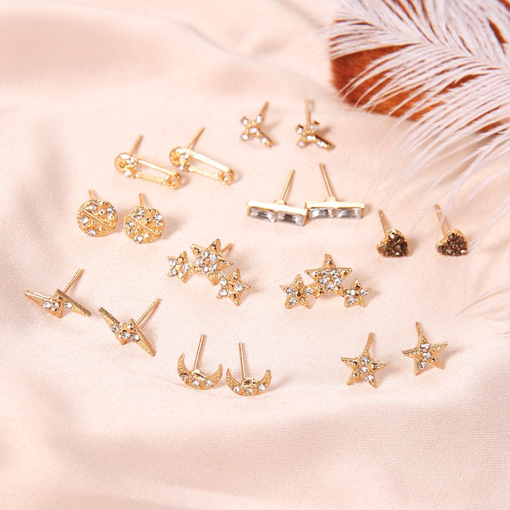 9-par-set-Luna-estrellas-coraz-n-rayo-Bijoux-pendientes-del-perno-prisionero-de-cristal-para (3)