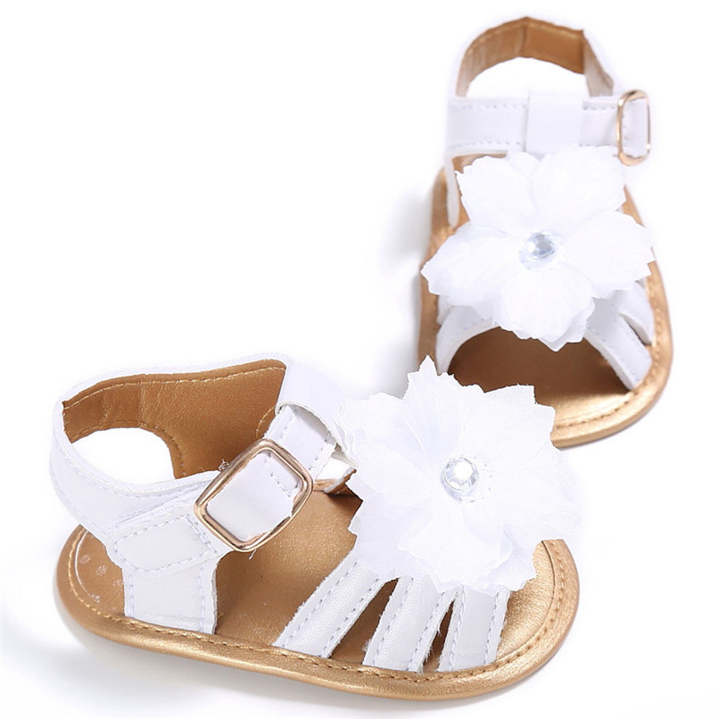 4 Color Summer Baby Shoes Toddler Girl Crib Shoes Newborn Flower Soft Sole Anti-slip First Walker NDA84L24 (5)