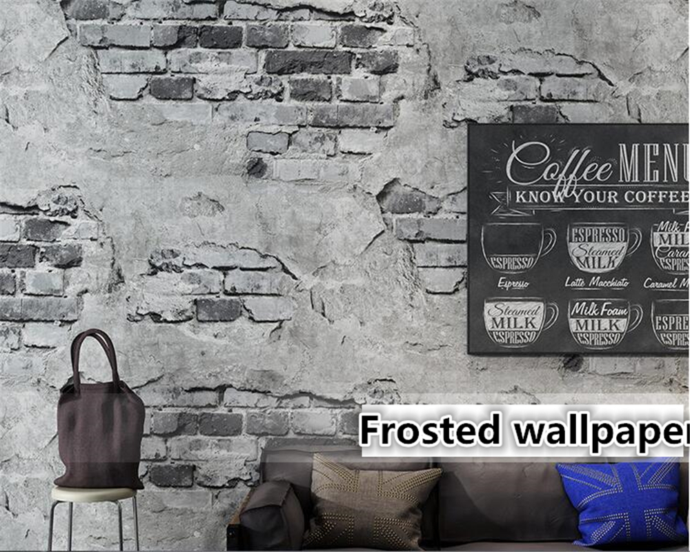 Wallpaper For Walls 3 D Retro Vintage Gray 3d Wallpaper Cement Brick Wall Industrial Wind Rustic Background Wall Paper