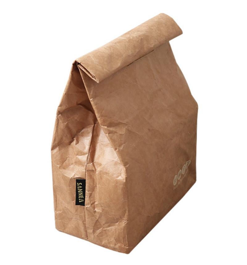 New Kraftpaper Lunch Bags for Women Men Kids Waterproof Insulated Cooler Bags Thermal Aluminum Foldable Picnic Bag 6L D19010902
