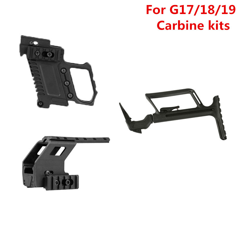 Tactical Rail Base Adapter System Quick Reload Mount stock For G17 G18 G19 Carbine Kit Accessories
